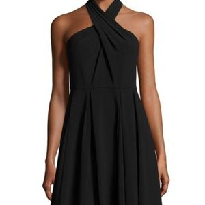 Halston Heritage Black Cocktail Dress NWT